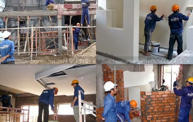 Quy trình tiến hành sửa nhà tại quận Hoàng Mai của Dương Gia
