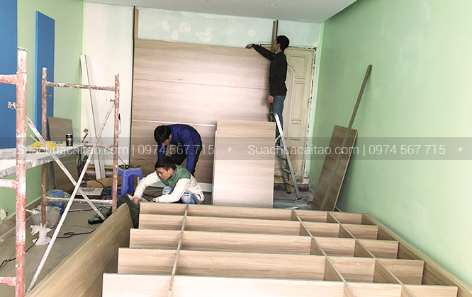 Dịch vụ sửa chữa nhà cam kết bảo hành lâu dài tại quận Hà Đông