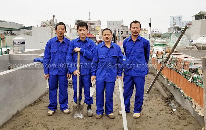 Đội ngũ thi công, kỹ sư nhiều năm kinh nghiệm và cẩn thận
