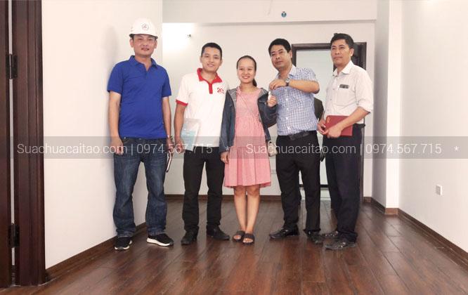 Khách hàng rất hài lòng dịch vụ sửa nhà quận Hà Đông của công ty XD Dương Gia