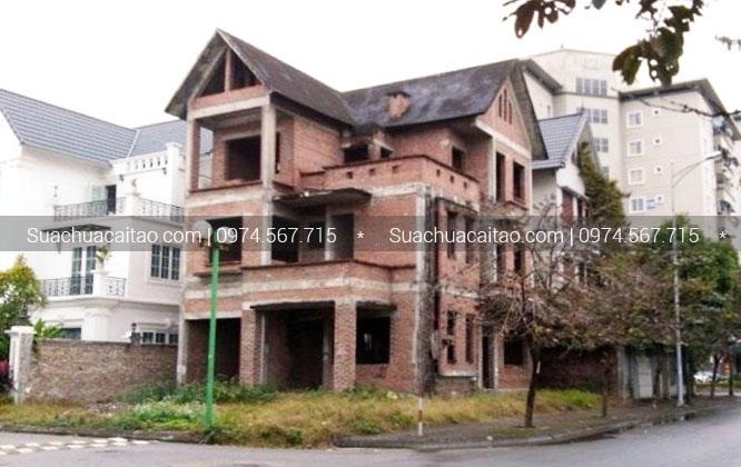 Quy trình tiến hành hoàn thiện nhà xây thô tại quận Ba Đình.