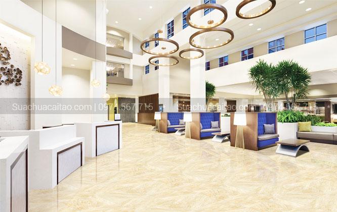Thi công ốp lát nền gạch cho nhiều tòa nhà dự án lớn tại Hà Nội như Lotte Center, Discovery Complex A