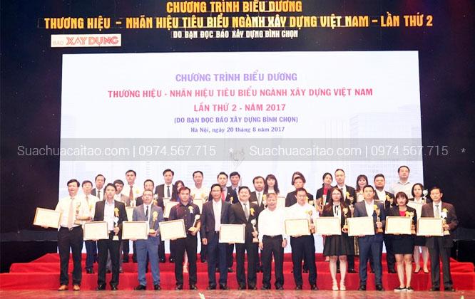 Xây dựng Dương Gia vinh dự nhận nhiều giải thường trong suốt 16 năm qua