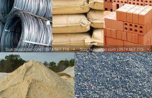 Nguồn nguyên vật liệu giá rẻ, chất lượng khi xây dựng nhà theo m2