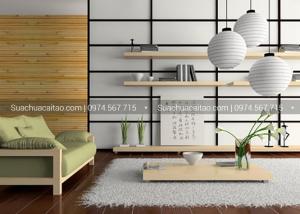 Những đường nét vuông vắn đặc trưng trong phong cách Nhật