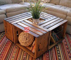 Bàn gỗ pallet mang phong cách vintage