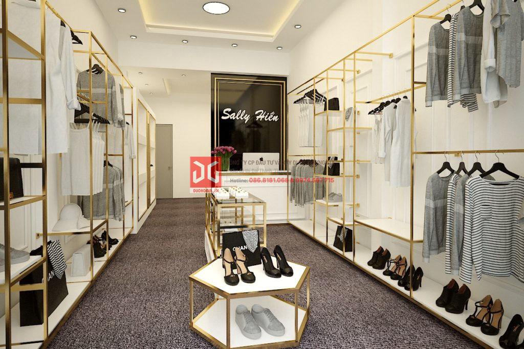 Shop thời trang dành cho nữ giới với phong cách đơn giản