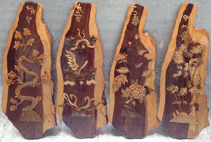 Tranh treo tường bằng gỗ cẩm lai
