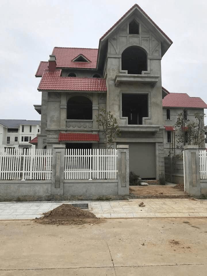 Biệt thự xây thô khu C KĐT Geleximco - Lê Trọng Tấn