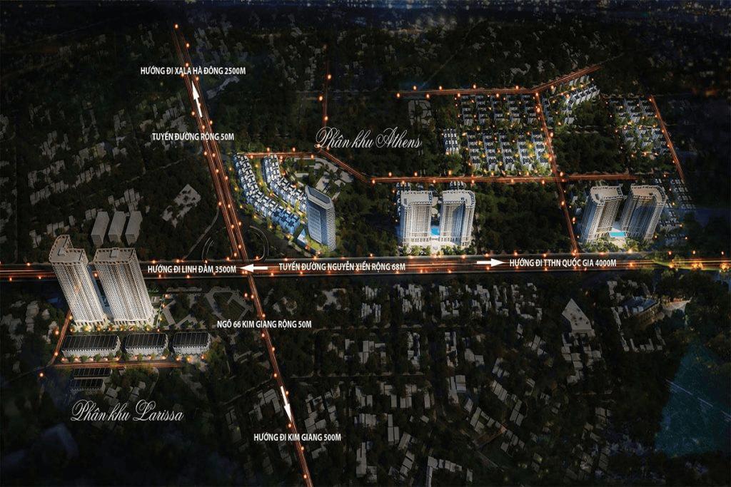 Vị trí đắc địa của biệt thự Athena Fulland